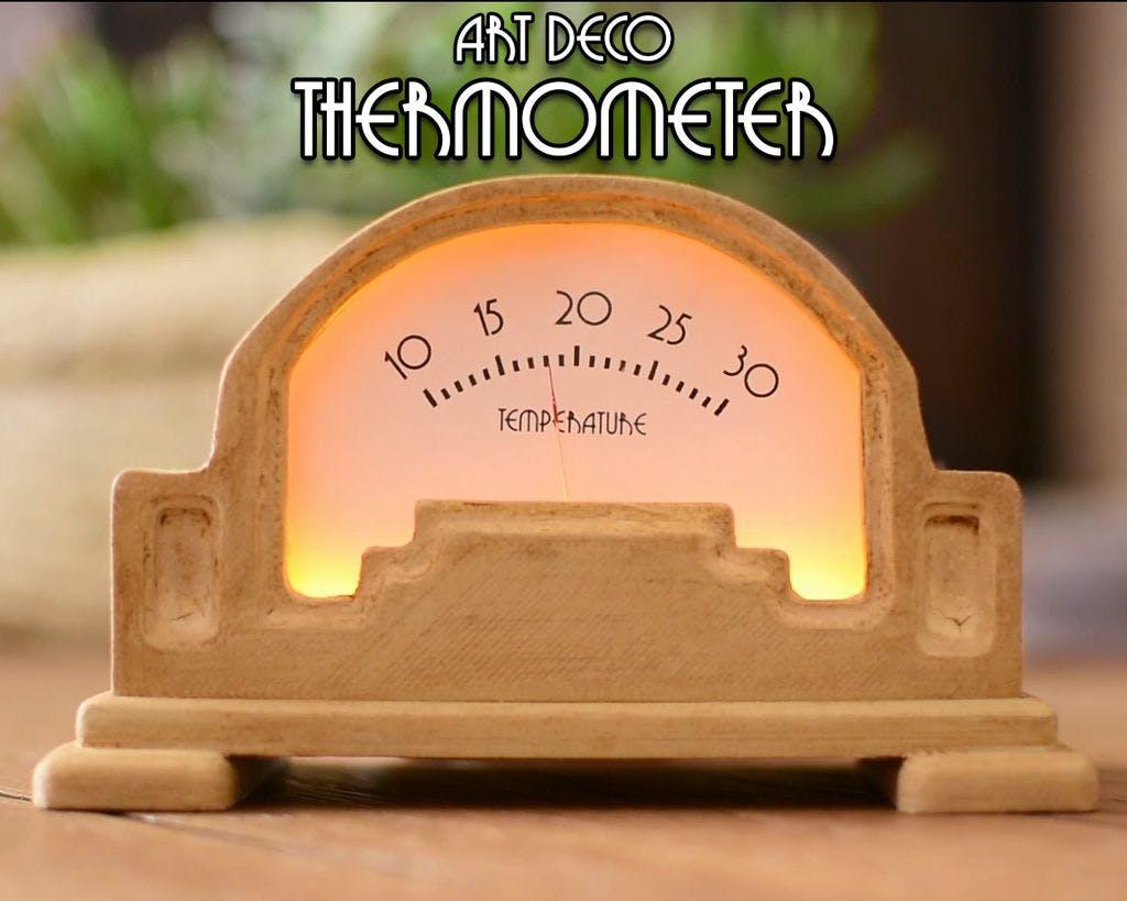 DIY Art Deco Analog Thermometer