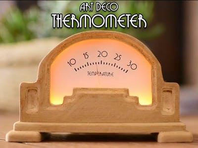 DIY Art Deco Analog Thermometer