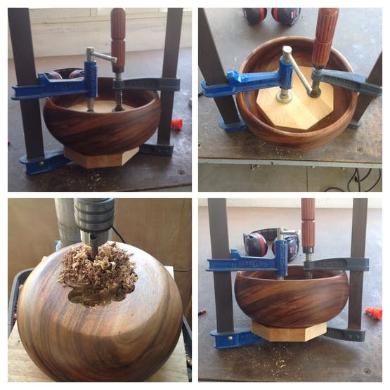 Drilling the bowl