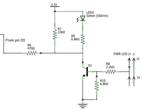 PWR LED block