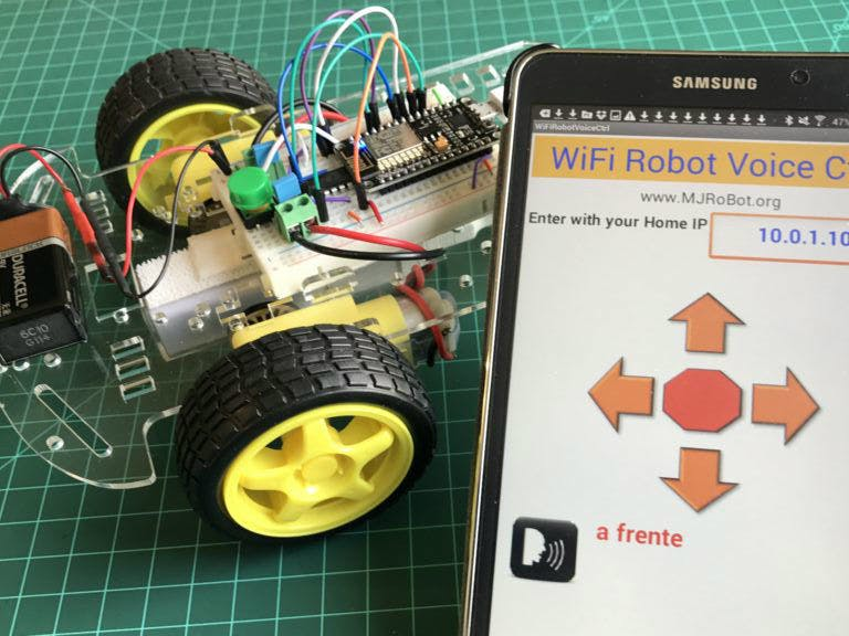 WiFi Voice Controlled Robot With NodeMCU - Hackster io