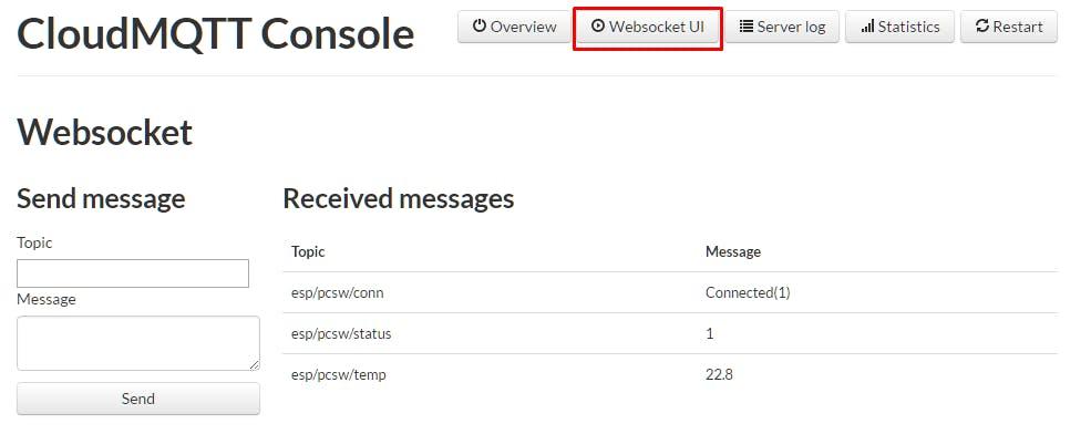 CloudMQTT Websocket UI