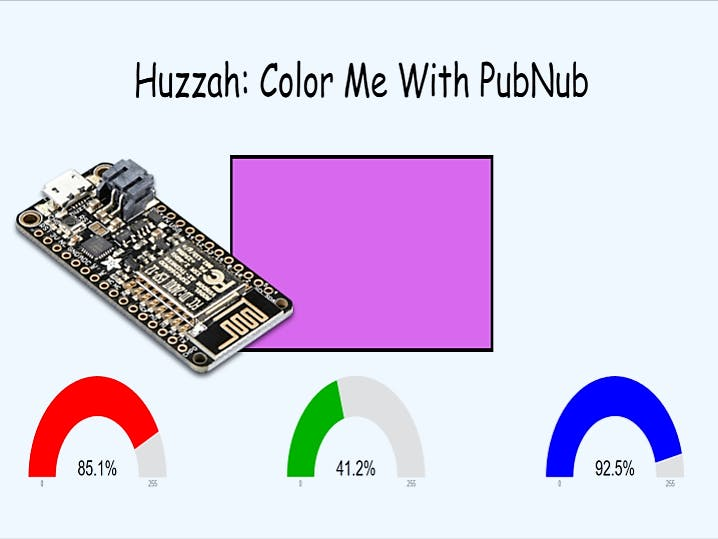 Huzzah! Color Me With PubNub!