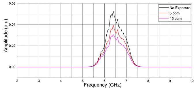 Fourier transform plot showing amplitude of raw signal over different frequencies.