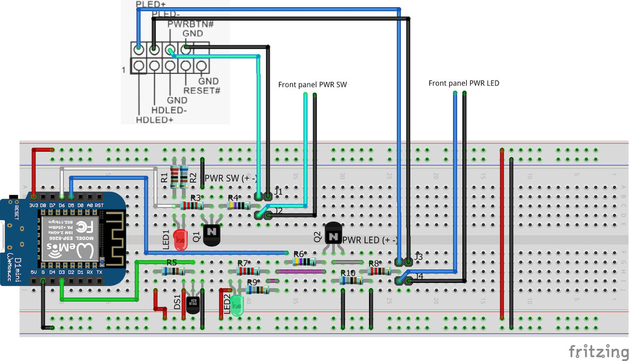 Wemos Esp8266 Remote Pc Switch Circuit Diagram Of The Power Train A Typical Atx Computer