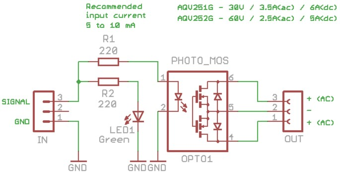 SSR Relay A photo coupled Solid State Relay with MOSFET