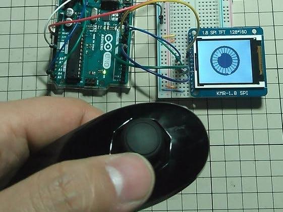 """1.8"""" TFT LCD DisplayTest Using Visuino"""