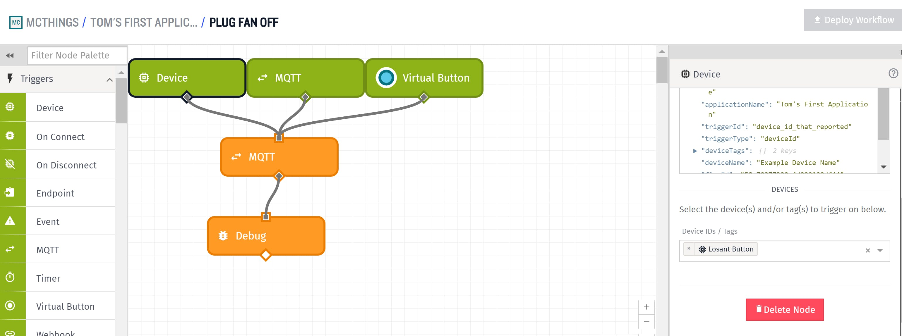 Setting up the Losant Button to use the phone app