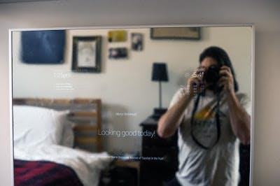 Smart mirror in its natural habitat
