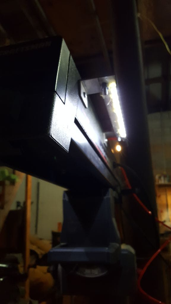 Lighting Up the Radial Arm Saw