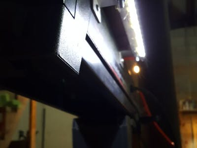 Lighting Up the Radial Arm Saw