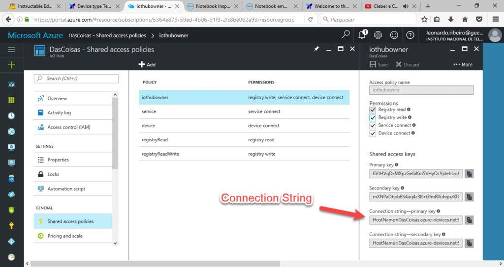 Connection String in Azure Portal