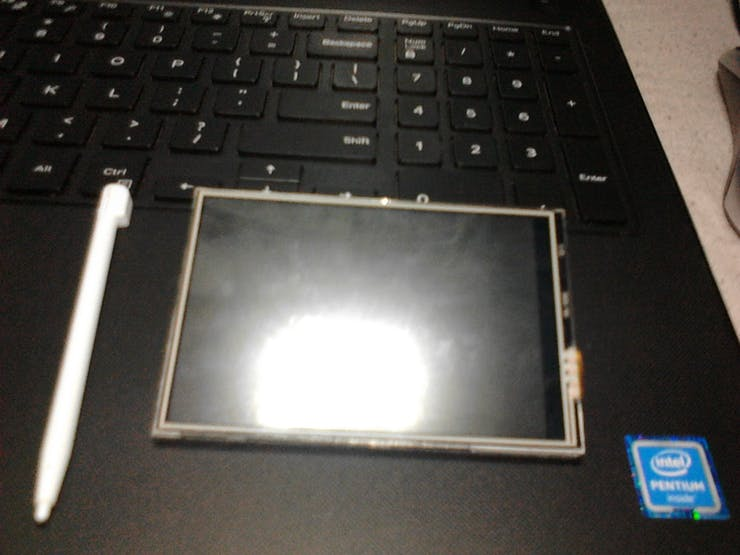 Front of the LCD