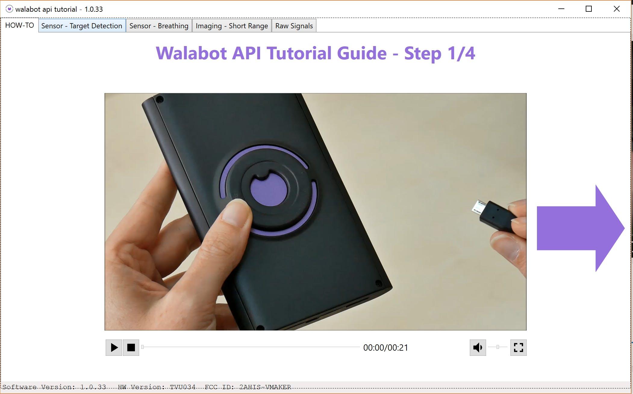 Walabot API Tutorial