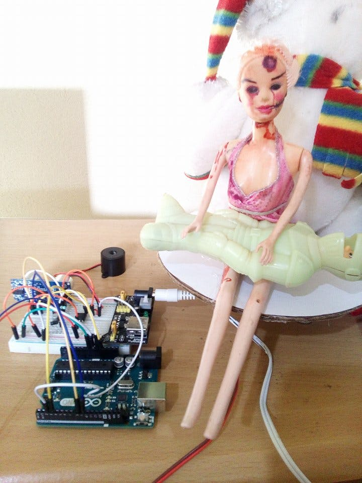My circuit and old barbie doll