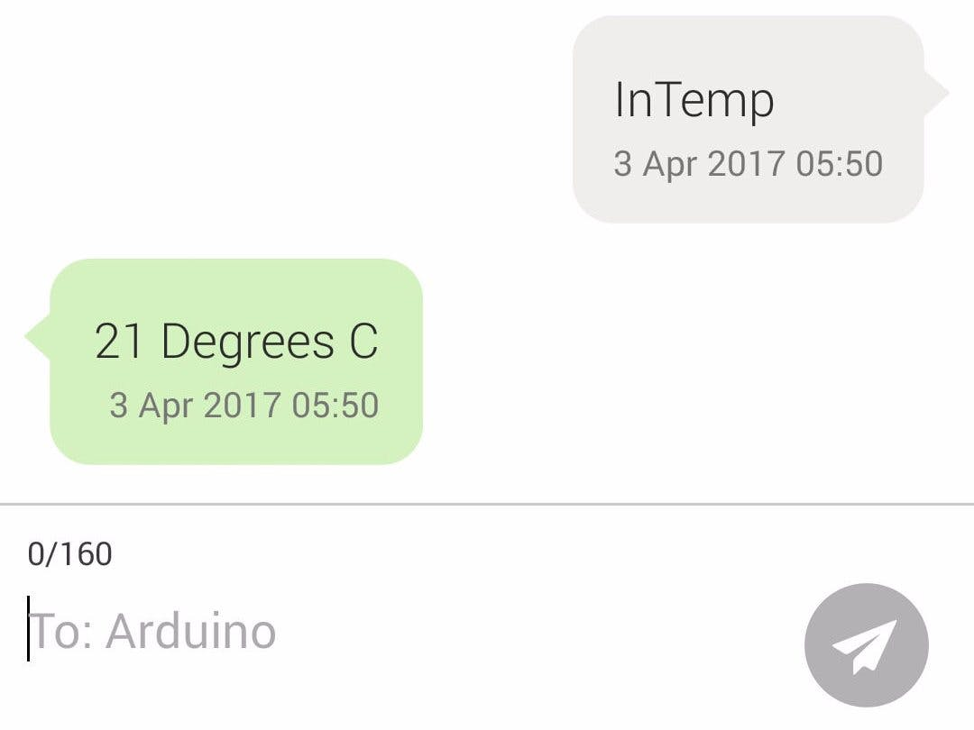 SMS Temperature Reply