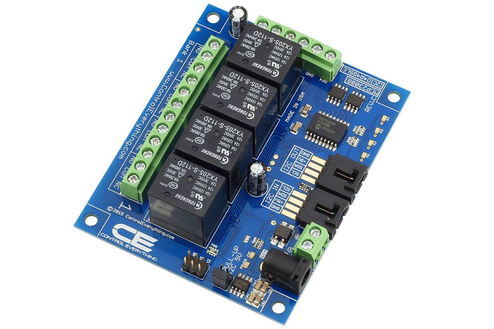 4-CHANNEL RELAY CONTROLLER FOR I2C