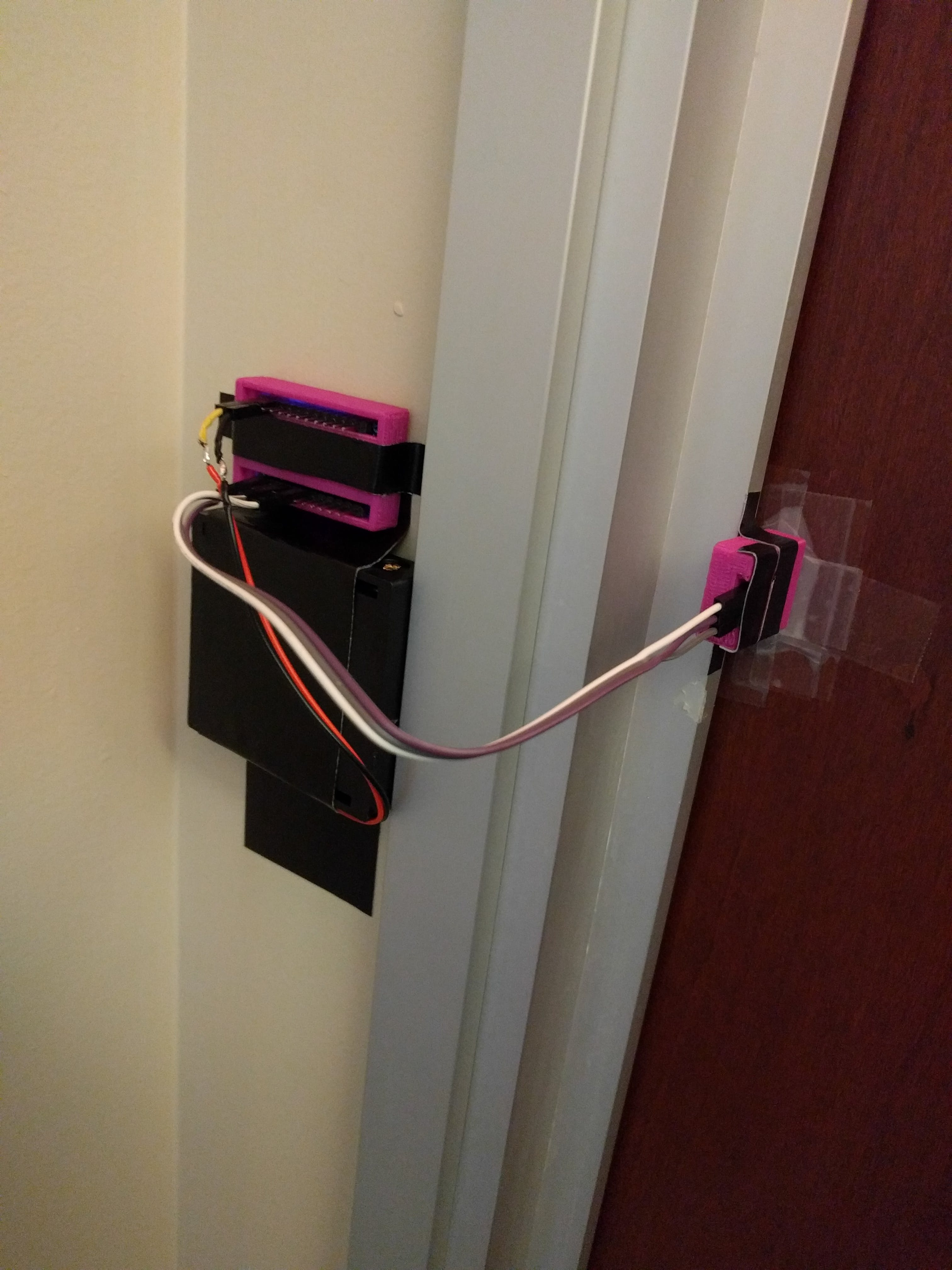 Bathroom detector with 3D printed cases and battery pack