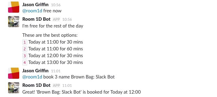Slack: free and book commands