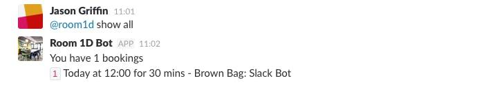 Slack: show all command