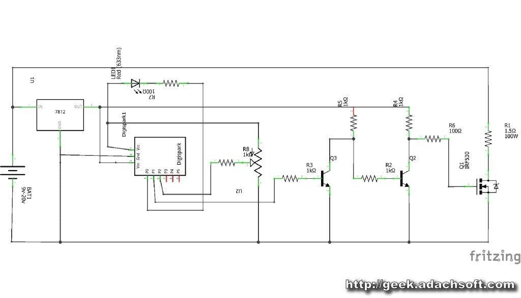 [SCHEMATICS_4NL]  Hot Wire Foam Cutter - Arduino PWM - Arduino Project Hub | Hot Wire Foam Cutter Design Diagram |  | Arduino Create
