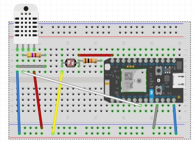 Temperature Sensor Breadboard