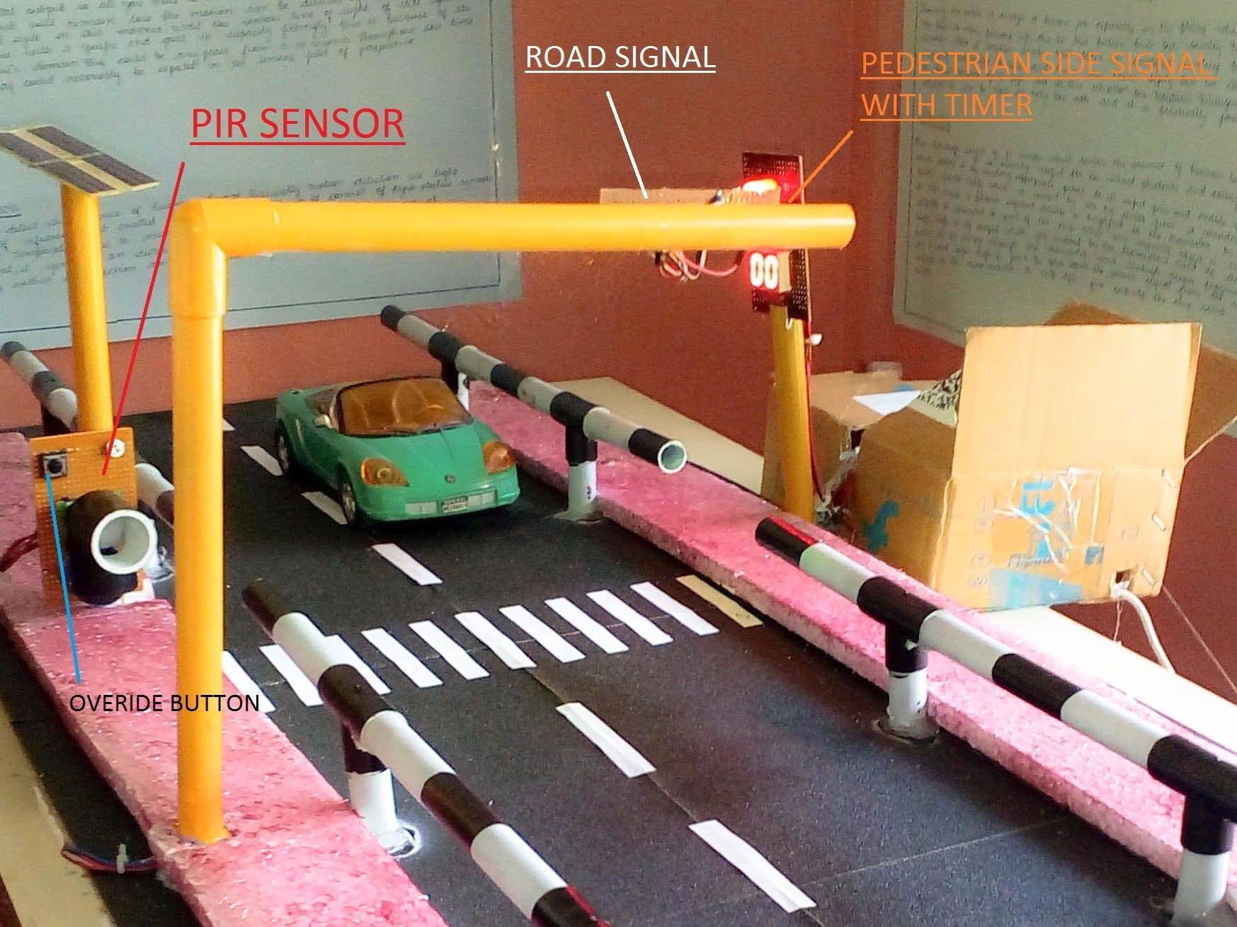 PIR Automated Intelligent Zebra Crossing