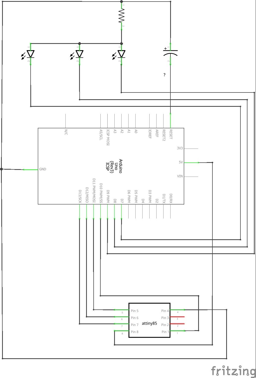Programming the ATtiny85 (Using an Arduino Uno) - ster.io on arduino amplifier, arduino dmx controller, flash circuit schematic, mbed circuit schematic, arduino pcb layout, arduino transistor, iphone circuit schematic,
