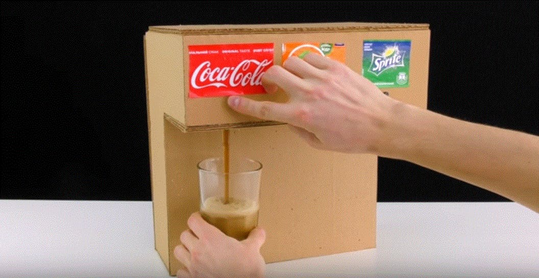 cardboard pop machine