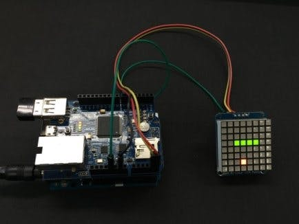 8X8 Matrix LED Snake Game (HTML5 Web Socket)
