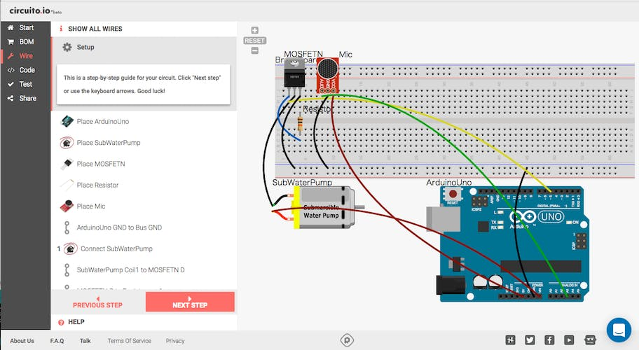 circuito.io wiring diagram