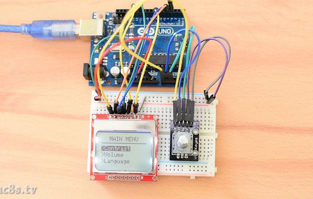 Arduino Menu on a Nokia 5110 Lcd Using a Rotary Encoder - Arduino
