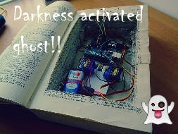 Arduino Darkness Activated Ghost