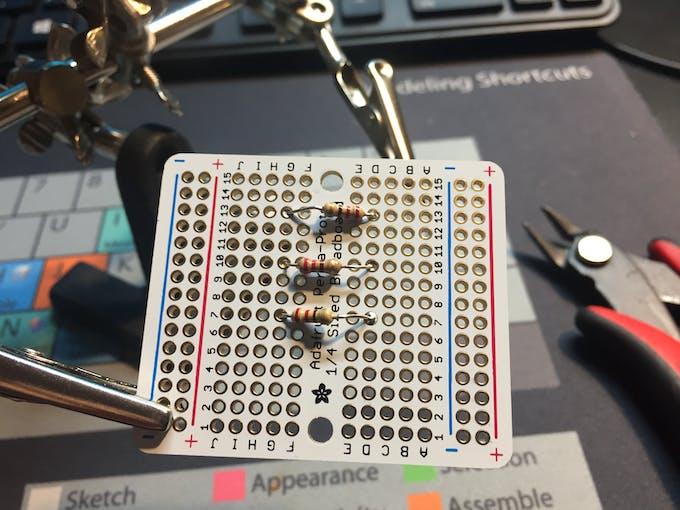 Attach resistors