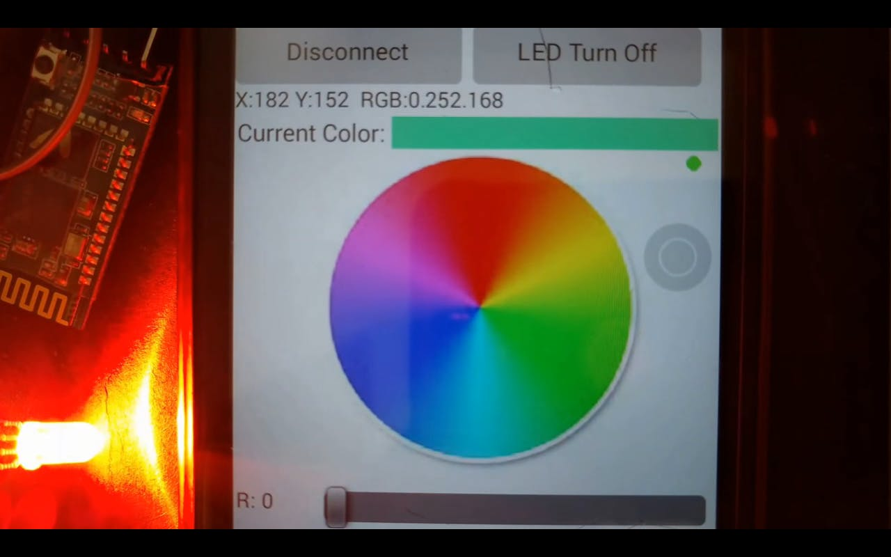 Control RGB LED using Bluetooth