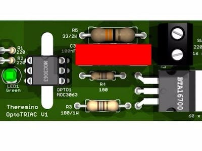 Theremino Optotriacs – A Solid State Relay 3KW