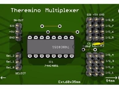 Theremino multiplexer, a multiplier of inputs and outputs.