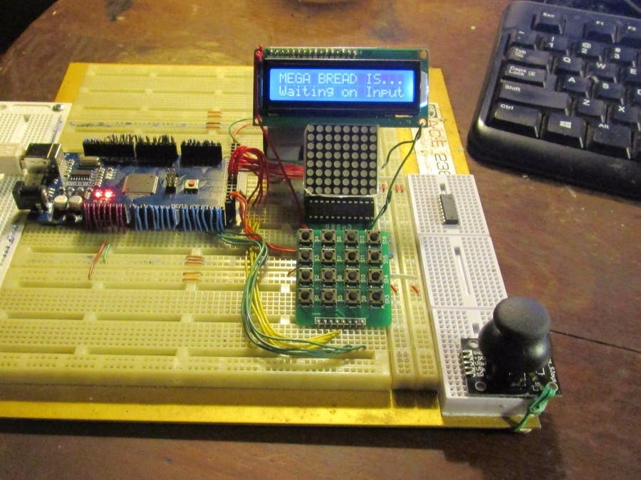 MEGA BREAD - 4X4 KeyPad - Arduino Project Hub