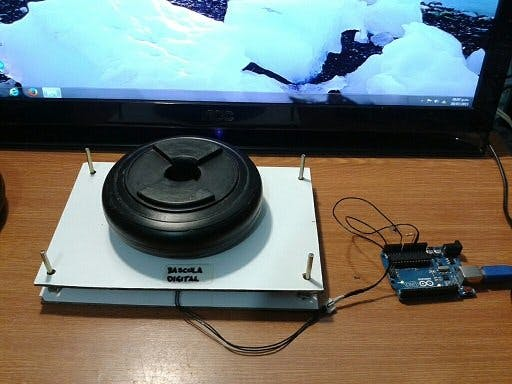 DIGITAL BASCULE WITH ARDUINO UNO AND FSR SENSOR