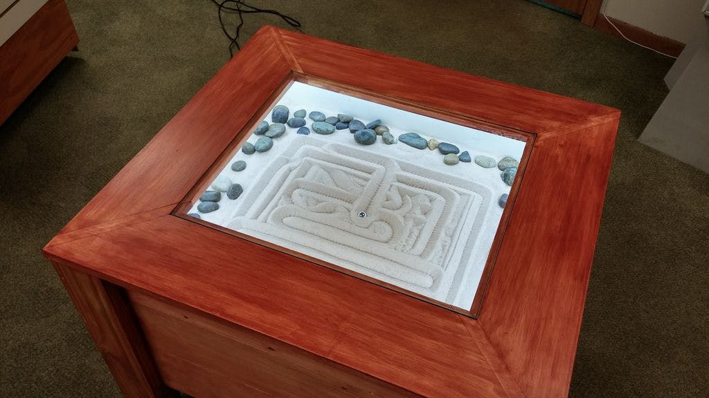 Zen Garden CNC End Table