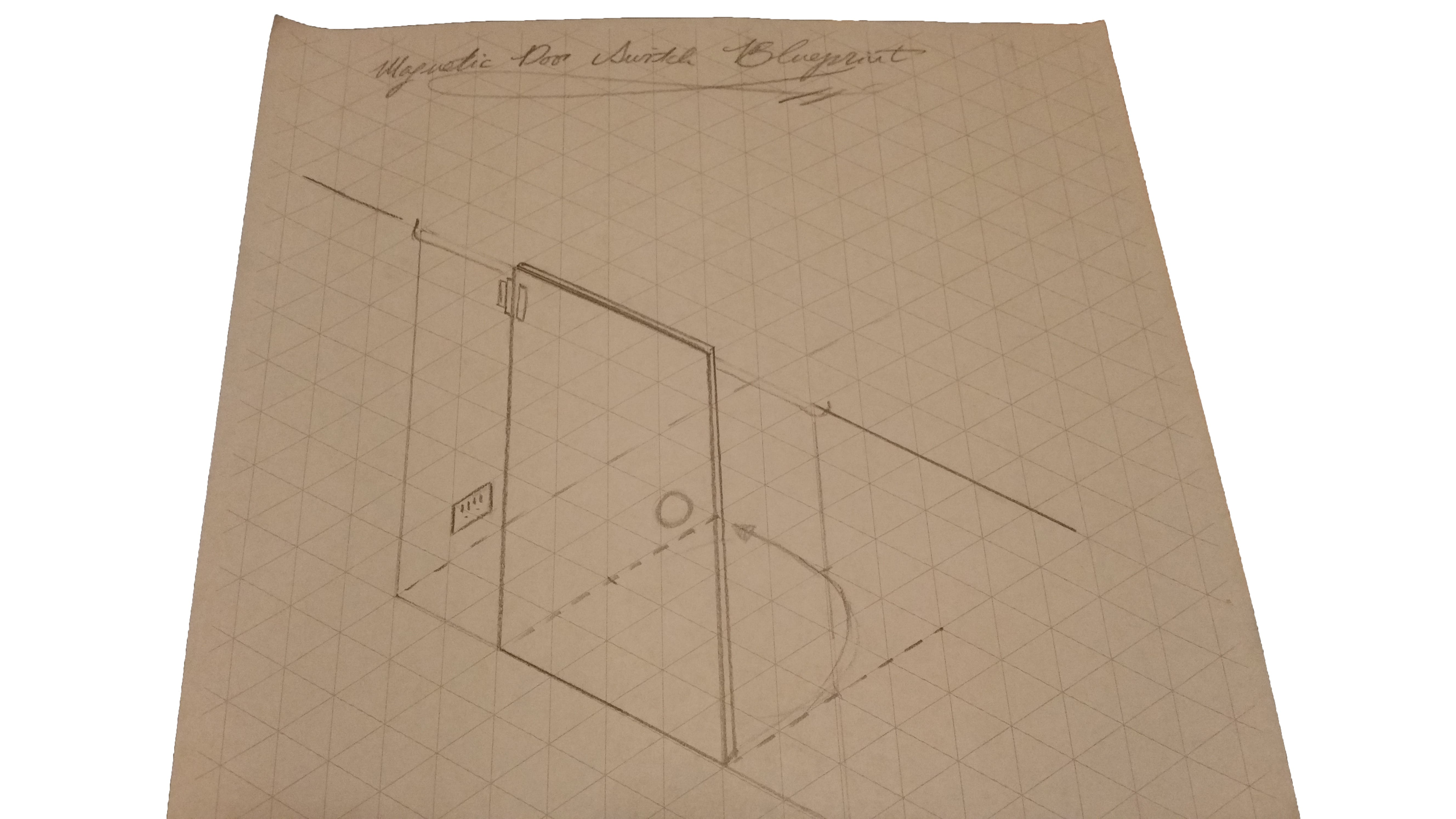 Sketch of where the enclosure will be mounted