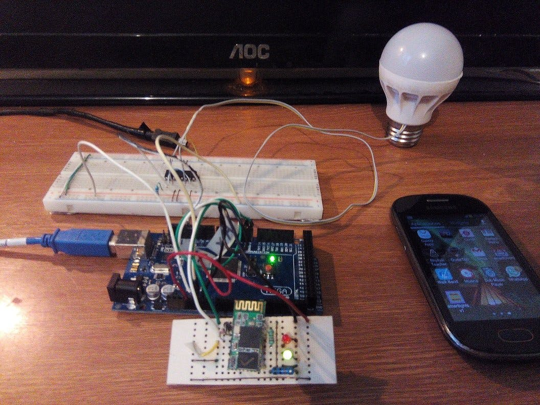 Control of a LED Spot Light with MEGA 2560 and Bluetooth