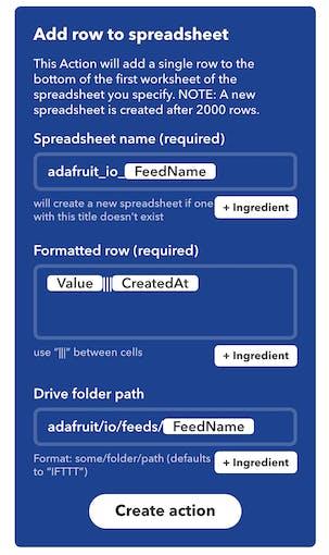 Add row to spreadsheet