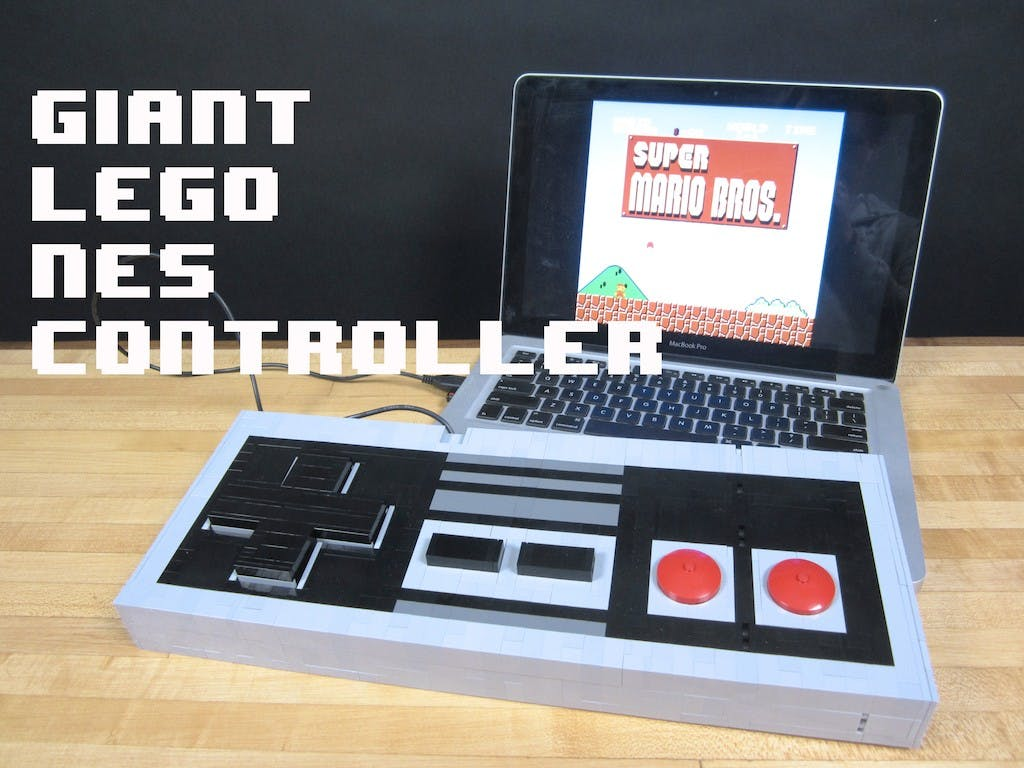 Giant Working LEGO NES Controller