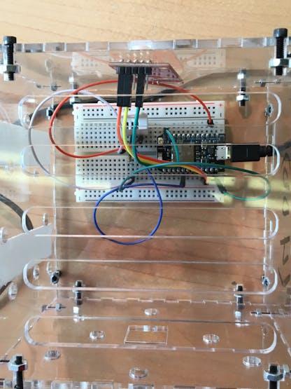 Close-up of our Box & Sensor