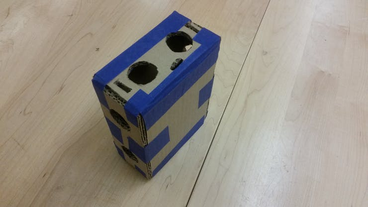 Our prototype had holes for easy airflow which would prevent the components from overheating.