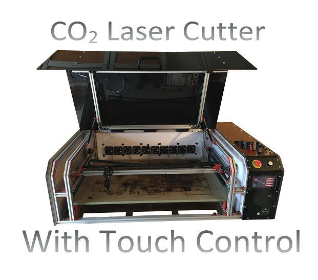 Self Built CO2 Lasercutter with Touch Control