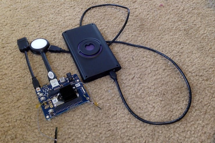 Walabot connected to Intel Joule