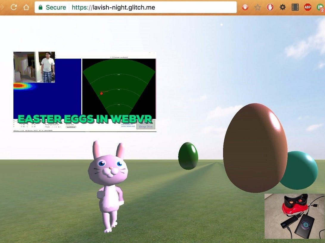 Walabot Target Visualization in WebVR