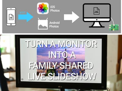 Turn a Monitor Into a Family-Shared Live Slideshow Album